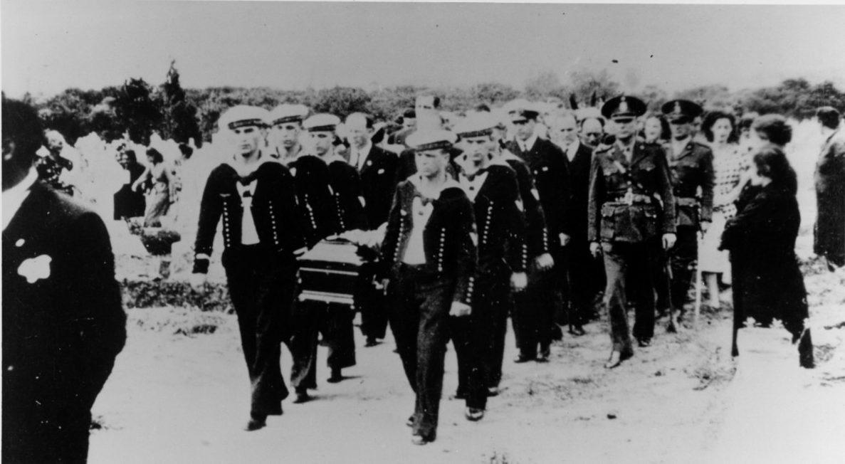 Funeral procession of Captain Hans Langsdorff